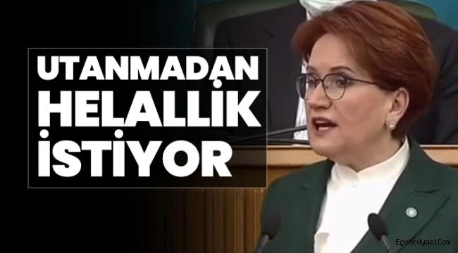 """Akşener'den Erdoğan'a """"Utanmadan Helallik İstiyor"""""""