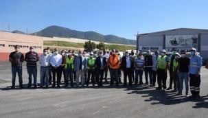 Başkan Mustafa İduğ, işçilerle bayramlaştı