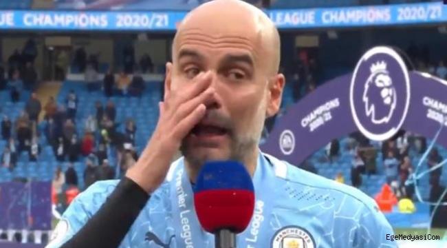 Guardiola kupa töreninde Agüero için gözyaşı döktü