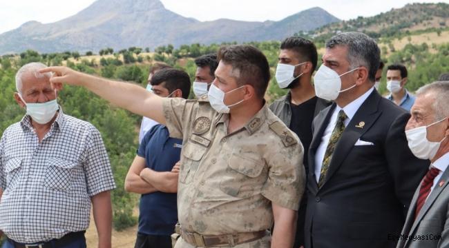 CHP'li Erol yangın bölgesinde