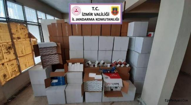 İzmir'de 1 milyon 776 bin bandrolsüz sigara yakalandı