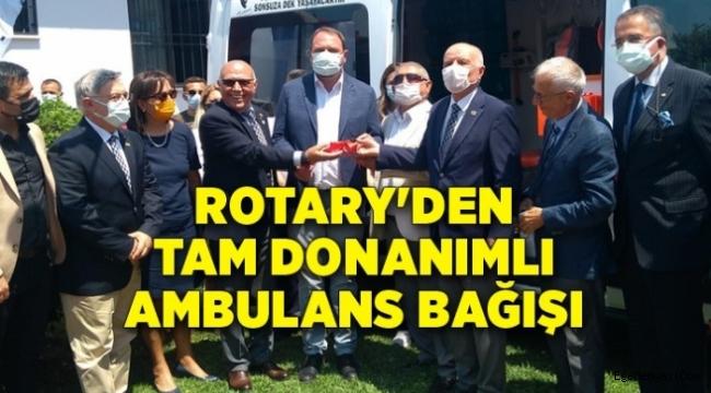 Rotary'den Çiğli'ye tam donanımlı ambulans bağışı