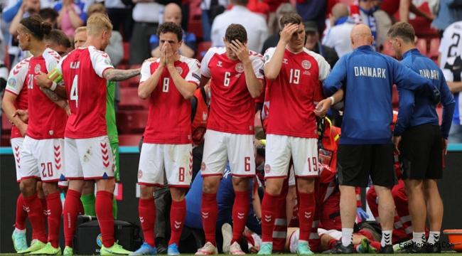 Ünlü futbolcu Christian Eriksen Danimarka-Finlandiya maçında bayıldı