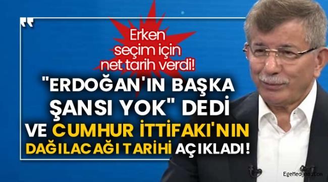 Davutoğlu, Cumhur İttifakı'nın dağılacağı tarihi açıkladı!