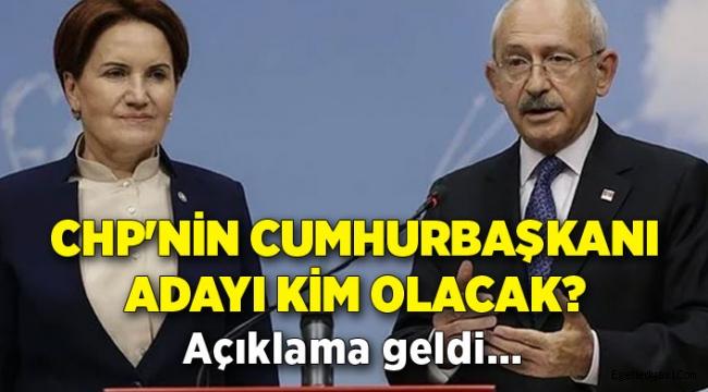 İşte CHP'nin Cumhurbaşkanı adayı!
