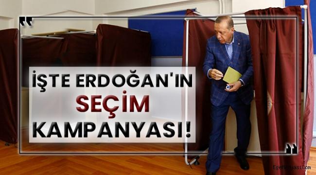 İşte Erdoğan'ın seçim kampanyası