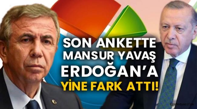 Mansur Yavaş Erdoğan'a fark atıyor!